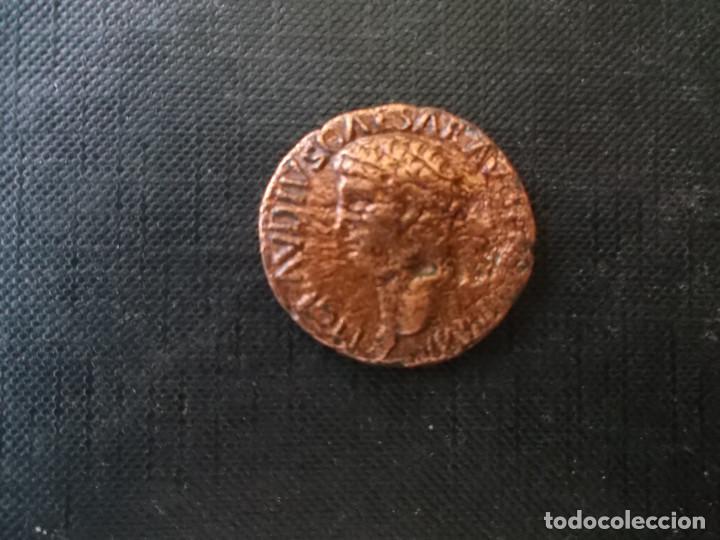AS EMPERADOR CLAUDIO EN BUEN ESTADO VER FOTOS (Numismática - Periodo Antiguo - Roma Imperio)