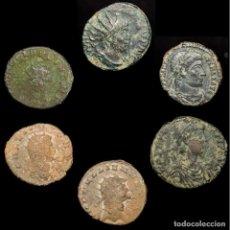Monedas Imperio Romano: IMPERIO ROMANO LOTE DE SEIS MONEDAS (LOTE 25). Lote 199273242