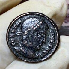 Monedas Imperio Romano: MONEDA ROMANA MEDIO FOLLIS DE CONSTANTINO AUGUSTO PATINA 2CMS. Lote 201338288