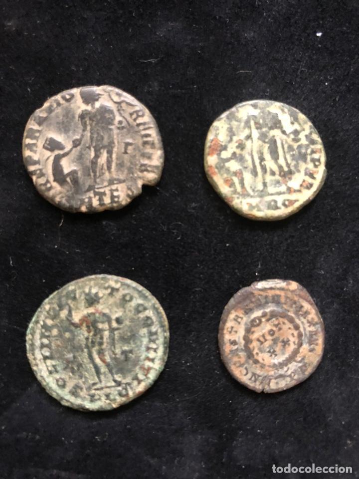 Monedas Imperio Romano: Conjunto de 4 monedas romanas. - Foto 2 - 202087653