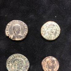 Monedas Imperio Romano: CONJUNTO DE 4 MONEDAS ROMANAS.. Lote 202087653