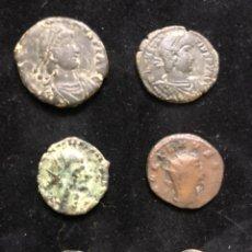 Monedas Imperio Romano: CONJUNTO DE SEIS MONEDAS ROMANAS.. Lote 202088541