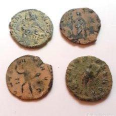 Monedas Imperio Romano: INTERESANTE LOTE DE 4 BAJO IMPERIOS A CATALOGAR.-. Lote 202274488