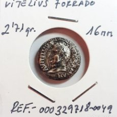 Monedas Imperio Romano: ESCASÍSIMO DENARIO DE VITELIO.- ( FORRADO DE ÉPOCA ).-EBC.- 2,71GR.-16 MM.. Lote 202321952