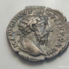 Monedas Imperio Romano: MARCO AURELIO..DENARIO. M ANTONINUS AVG. TRP XXVII. REV. IMP VI COS III. PESO 2,98G. Lote 205548956