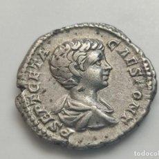 Monedas Imperio Romano: DENARIO DE GETA..ROMA (201 D.C.) 3,40G. P SET GETA CAES PONT. REV.PRINCIPI IVVENTUTIS. Lote 205550495