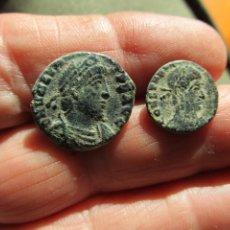 Moedas Império Romano: LOTE DE 2 MONEDAS BAJOIMPERIALES MUY BONITAS. Lote 205878830