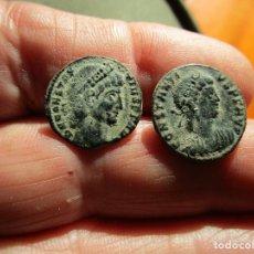 Moedas Império Romano: LOTE DE 2 MONEDAS BAJOIMPERIALES MUY BONITAS. Lote 205879093