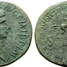 Monedas Imperio Romano: MUY RARO Y ESCASO. CLAUDIO I Æ SESTERTIUS. ROMA, AD 41-45. TI CLAVDIVS CAESAR AVG PM TR P IMP. Lote 206265371