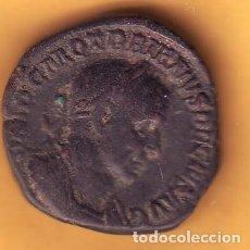 Monedas Imperio Romano: SESTERCIO DE TRAJANO DECIO CON REVERSO GENIO. Lote 206271413