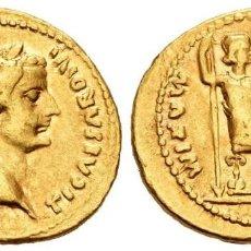 Monedas Imperio Romano: TIBERIO. ÁUREO. 14-37 D.C. LUGDUNUM. AU. 7,66 G. LIVIA COMO PAX. EBC-. Lote 206969670