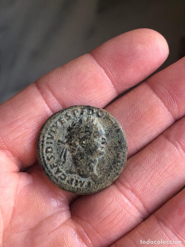 DUPONDIO DE DOMICIANO EBC (Numismática - Periodo Antiguo - Roma Imperio)