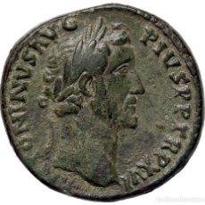 Monedas Imperio Romano: ESPECTACULAR.. SESTERTIUS ANTONINO PIO (138-161 20,7G EBC+. Lote 210323106