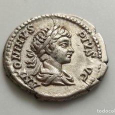 Monedas Imperio Romano: CARACALLA. 211-217. DENARIO. ANV:ANTONINUS.PIUS.AVG. REV: VIRTUS AVG.G..3.35G. Lote 210447713