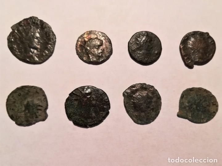 8 MONEDAS (ANTONINIANOS) DE PLATA Y COBRE DEL EMPERADO CLAUDIO II (RIC V CLAUDIO II 261 Y OTRAS (Numismática - Periodo Antiguo - Roma Imperio)
