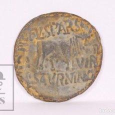 Monedas Imperio Romano: MONEDA ROMANA AS DE TIBERIO - TI AVGVS DIVI AVGVSTI IMP CAESAR... - ACUÑADA EN CALAHORRA - TORO. Lote 213861176