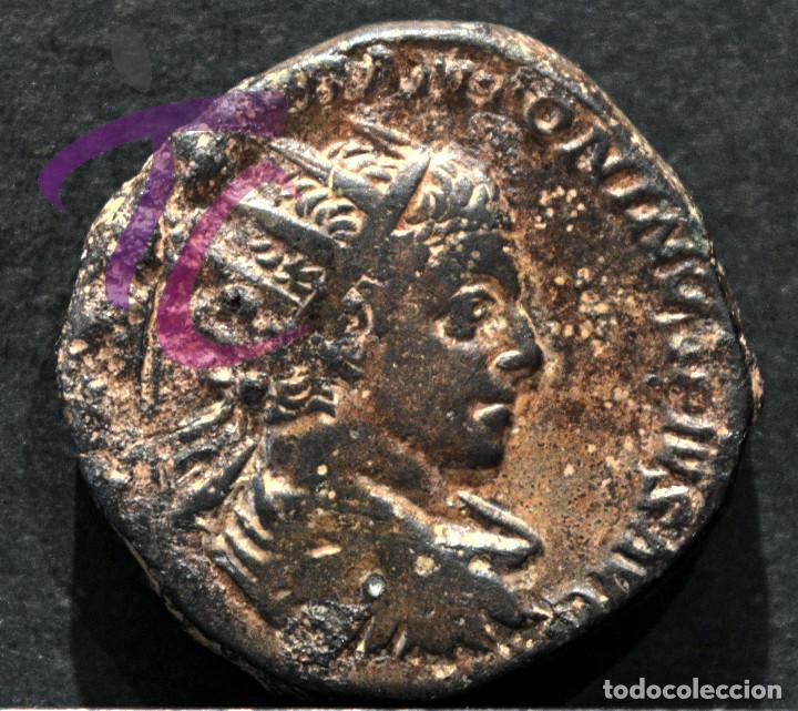 RARO DUPONDIO HELIOGABALO DUPONDIUS ELAGABALO (218-222 D.C) (Numismática - Periodo Antiguo - Roma Imperio)