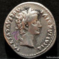 Monedas Imperio Romano: DENARIO DE TIBERIO DINASTÍA JULIA-CLAUDIA LUGDUNUM 15-16 DC RARA PATAS DE LA SILLA LISAS. Lote 196212690