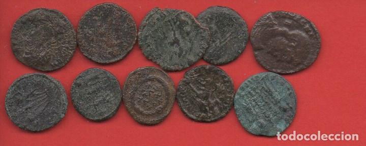 10 MONEDAS ROMANAS, LEER DESCRIPCIÓN (Numismática - Periodo Antiguo - Roma Imperio)