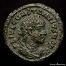 Monedas Imperio Romano: CONSTANCIO II - MEDIO FOLLIS, GLORIA EXERCITVS // AQS. AQUILEIA. Lote 218142853