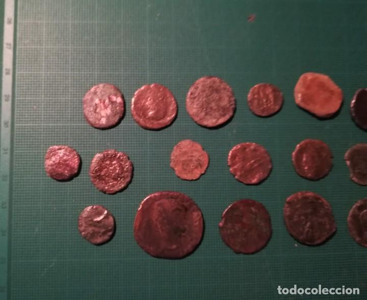 Monedas Imperio Romano: Lote de 20 monedas romanas a identificar (diferentes conservaciones) - II - Foto 4 - 218534802