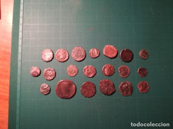 Monedas Imperio Romano: Lote de 20 monedas romanas a identificar (diferentes conservaciones) - II - Foto 5 - 218534802