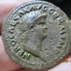 Monete Impero Romano: AS DE NERON , PATINA FLORENTINA, MARAVILLOSO. Lote 220818756