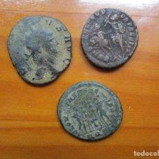 Monedas Imperio Romano: LOTE - 3 MONEDAS ROMANAS. Lote 222244568