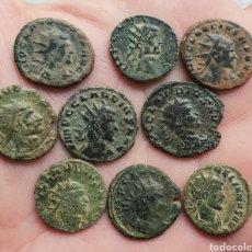 Monedas Imperio Romano: MUY BONITO LOTE DE 9 PIEZAS ANTONINIANOS CLAUDIO. Lote 222621806