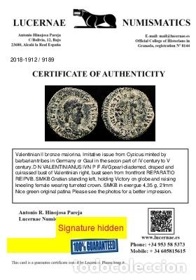 Monedas Imperio Romano: Valentiniano II ( 375-392 ) mayorina Cyzico. REPARATIO REIPVB// SMKB - Foto 3 - 222691927