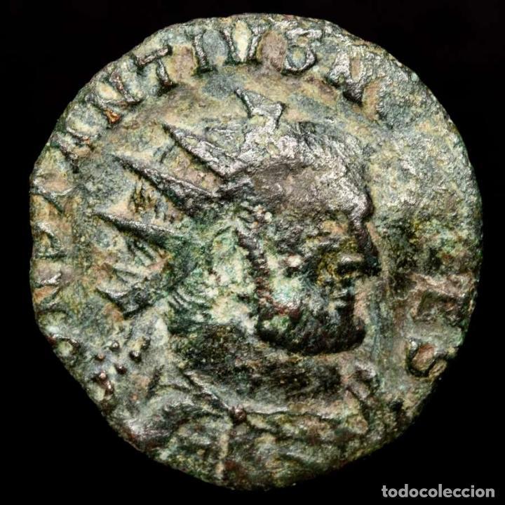 CONSTANCIO I, FOLLIS RADIADO DE BRONCE. ROMA. VOT XX GAMMA. ESCASA. (Numismática - Periodo Antiguo - Roma Imperio)