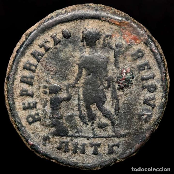 Monedas Imperio Romano: Teodosio I (379-395) mayorina. Antioquía. REPARATIO REI PVB /ANT? - Foto 2 - 222693532