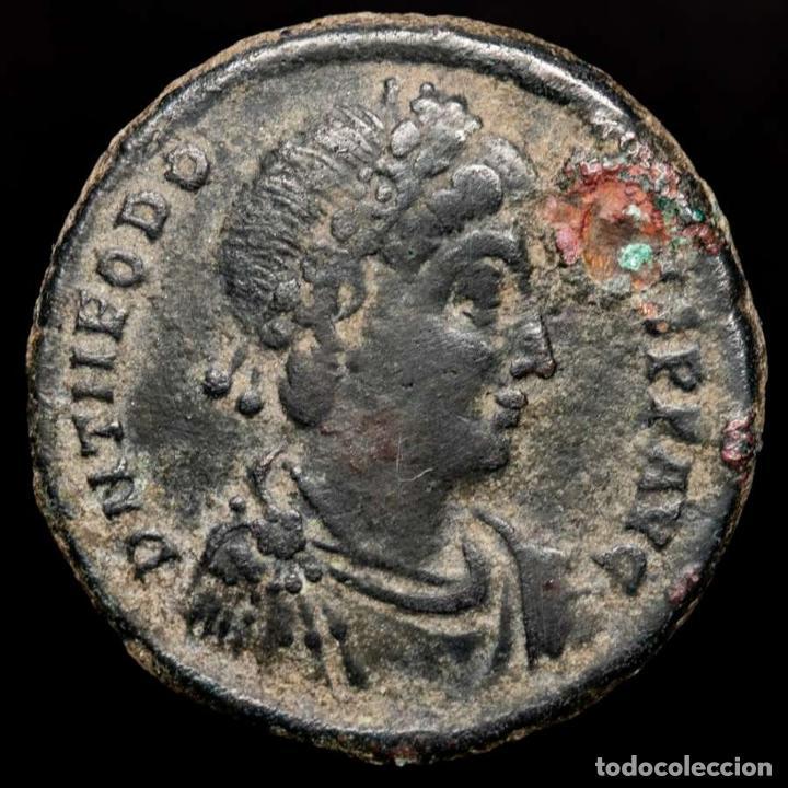 TEODOSIO I (379-395) MAYORINA. ANTIOQUÍA. REPARATIO REI PVB /ANT? (Numismática - Periodo Antiguo - Roma Imperio)
