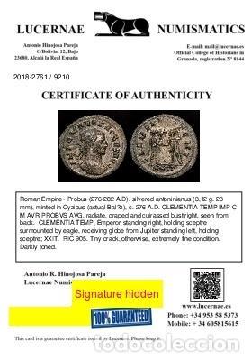 Monedas Imperio Romano: Probo (276-282 d.C) Antoniniano plateado. Roma, CLEMENTIA TEMP. - Foto 3 - 222700351