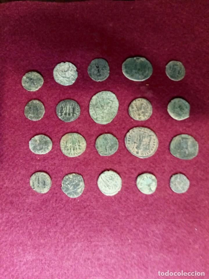 Monedas Imperio Romano: Lote de 20 monedas romanas - Foto 2 - 225073128