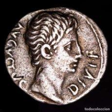 Monedas Imperio Romano: AUGUSTO. AR DENARIO. LUGDUNUM 15-13 AC. - TORO EMBISTIENDO IMP X.. Lote 227818840