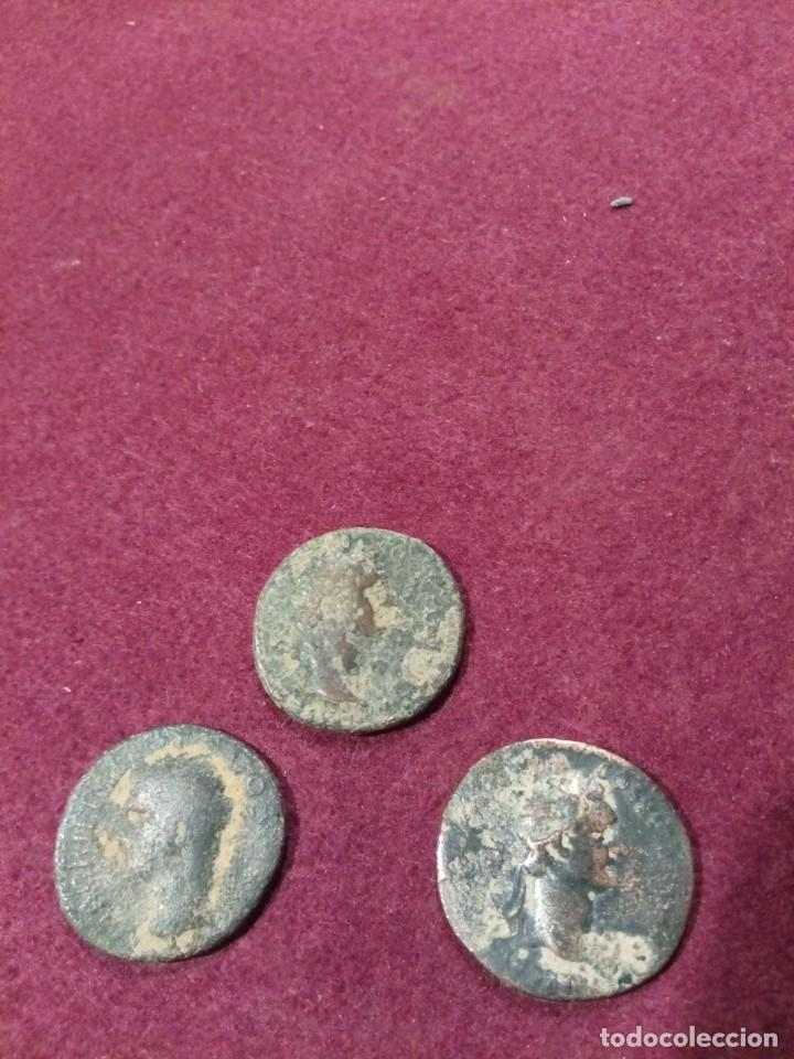 LOTE DE TRES ASES ROMANOS (Numismática - Periodo Antiguo - Roma Imperio)