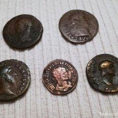 Monedas Imperio Romano: 5 MONEDAS BRONCE ÉPOCA ROMANA. Lote 232745025
