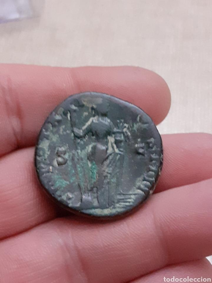 Monedas Imperio Romano: Excelente y escaso sestercio ANTONINO PIO roma ref68 - Foto 2 - 233881290