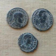 Monedas Imperio Romano: LOTE DE 2 MONEDAS DE CONSTANCIO Y 1 DE JULIANO.. Lote 234700945