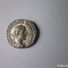 Monedas Imperio Romano: DENARIO DE ALEJANDRO SEVERO. SALUD SENTADA ALIMENTANDO SERPIENTE. PLATA.. Lote 235503680