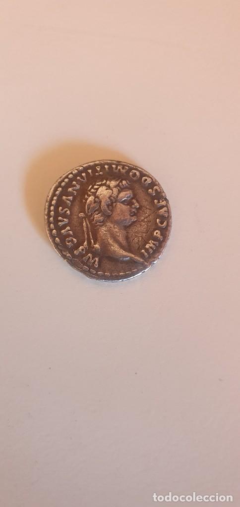 MONEDA ROMANA PLATA DOMITIAN IVPPITER CONSERVATOR (Numismática - Periodo Antiguo - Roma Imperio)