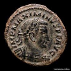 Monedas Imperio Romano: MAXIMINUS II DAIA FOLLIS. TRIER T/F PTR. GENIO POP.ROM. VERY SCARCE. Lote 235815135