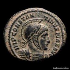 Monedas Imperio Romano: CONSTANTINO I, FOLLIS, 318 D.C. TICINUM P-ST. VOT PR. VICTORIAS****. Lote 235817715