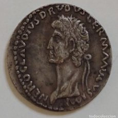 Monedas Imperio Romano: MONEDA ROMANA CLAUDIO. REPLICA BAÑO DE PLATA.. Lote 235824930