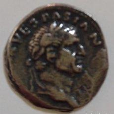 Monedas Imperio Romano: MONEDA ROMANA VESPASIANO. REPLICA BAÑO DE PLATA.. Lote 235825355