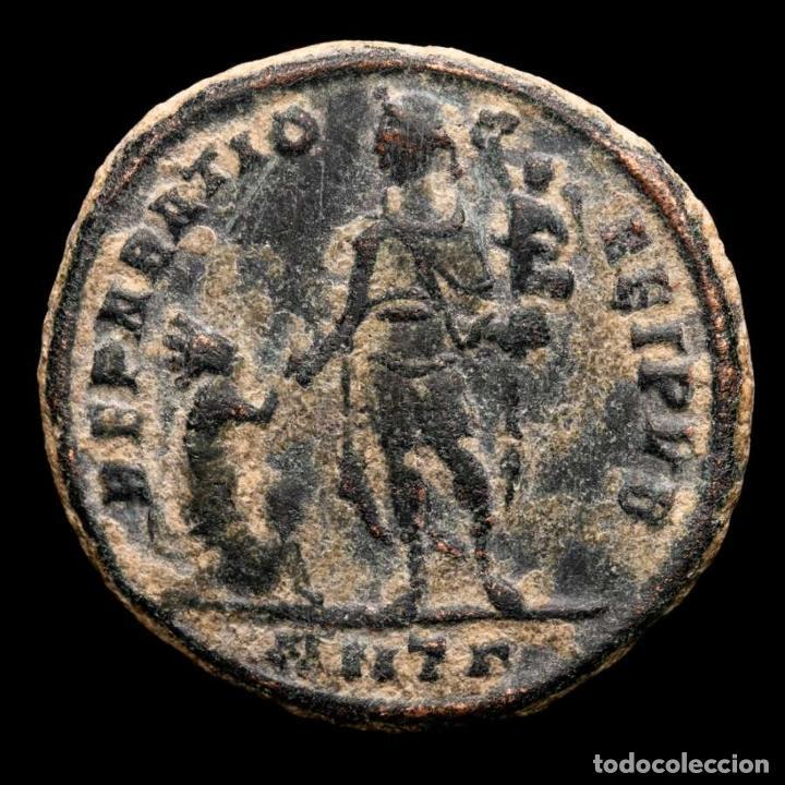 Monedas Imperio Romano: Teodosio I (379-395) maiorina. Antioquía. REPARATIO REI PVB / ANTΓ - Foto 2 - 236531410