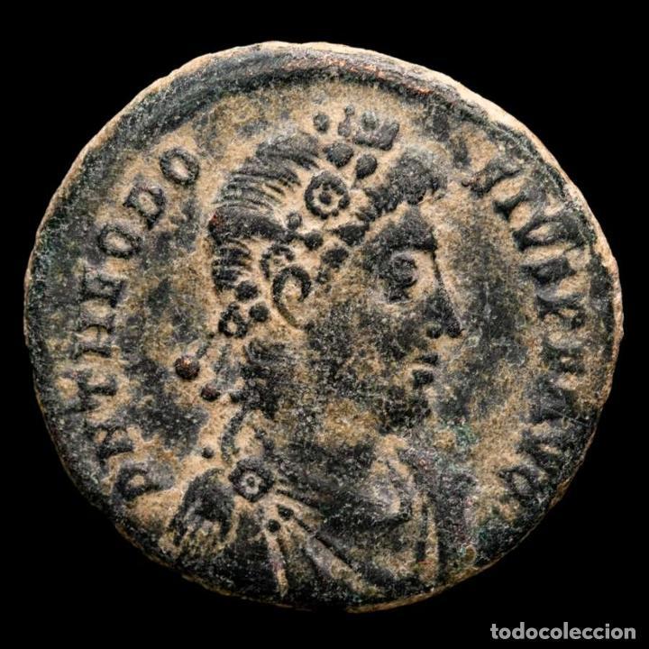 TEODOSIO I (379-395) MAIORINA. ANTIOQUÍA. REPARATIO REI PVB / ANTΓ (Numismática - Periodo Antiguo - Roma Imperio)