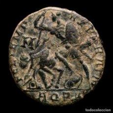 Monedas Imperio Romano: CONSTANCIO II, AE18. AQUILEIA. REPARATIO REIPVB/AQP PALMA. ESCASO.. Lote 236541635