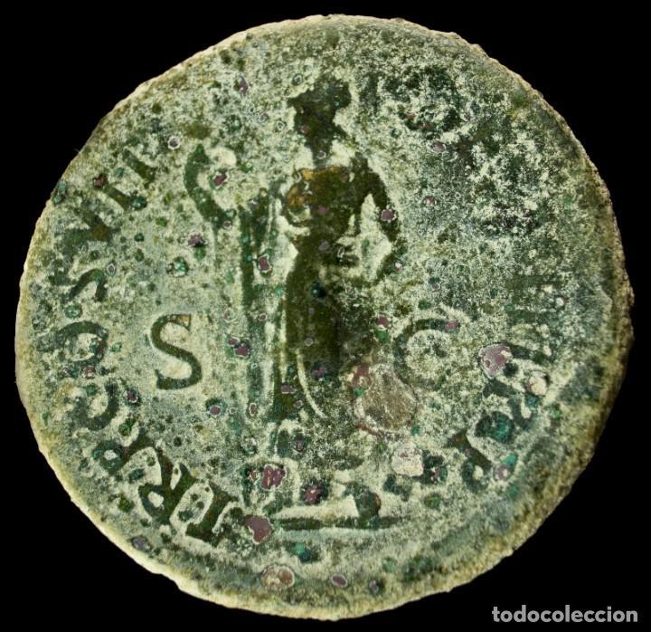 SESTERCIO DE DOMICIANO - TR P COS VII DES VIII PP - 35 MM / 26.22 GR. (Numismática - Periodo Antiguo - Roma Imperio)